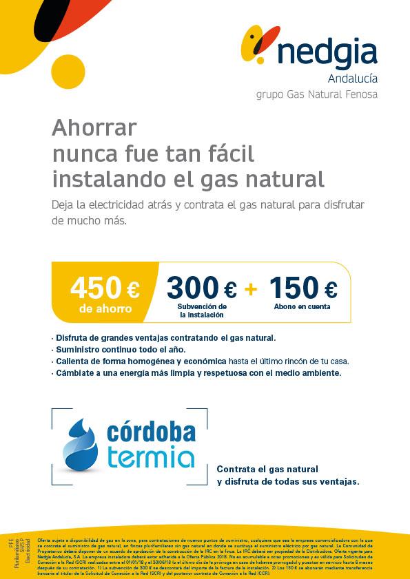 Oferta instalación Gas Natural Nedgia en Córdoba para viviendas plurifamiliares (edificios de viviendas)