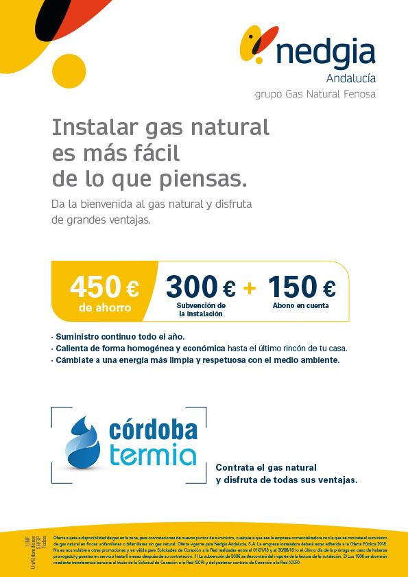Oferta instalación gas natural nedgia para unifamiliares